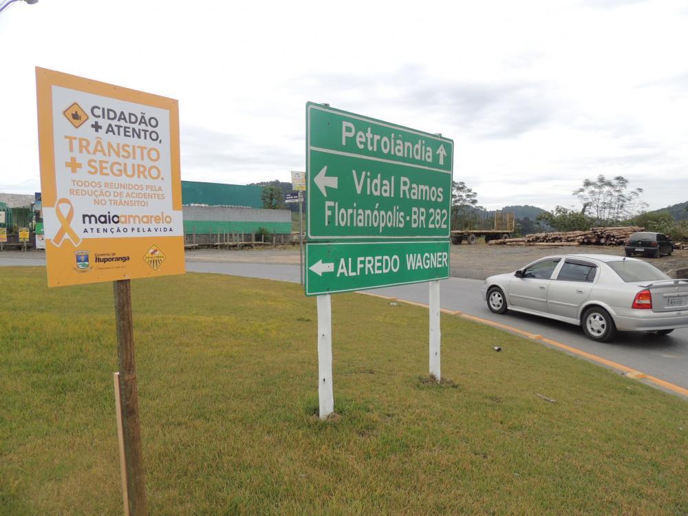 Maio Amarelo: Ituporanga organiza campanha sobre o trânsito