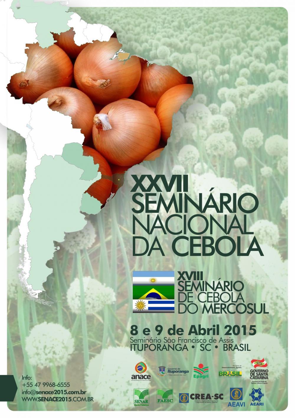 Ituporanga está pronta para receber o 27º Seminário Nacional da Cebola
