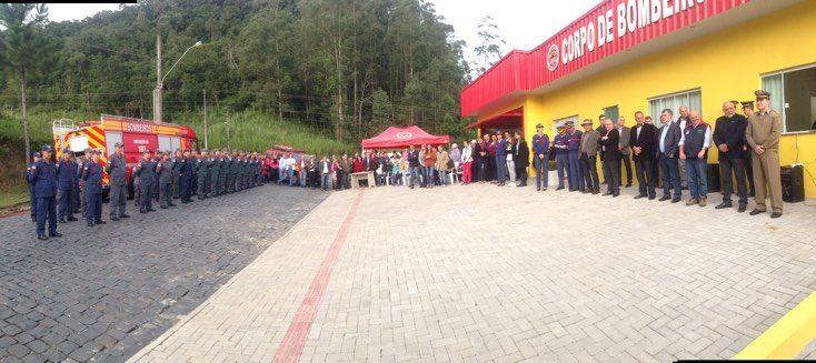 Prefeito de Ituporanga inaugura ampliação do Corpo de Bombeiros