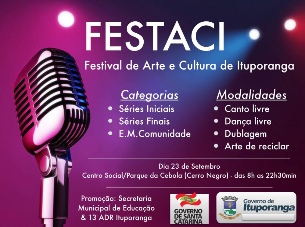 Festival Cultural mobiliza escolas em Ituporanga