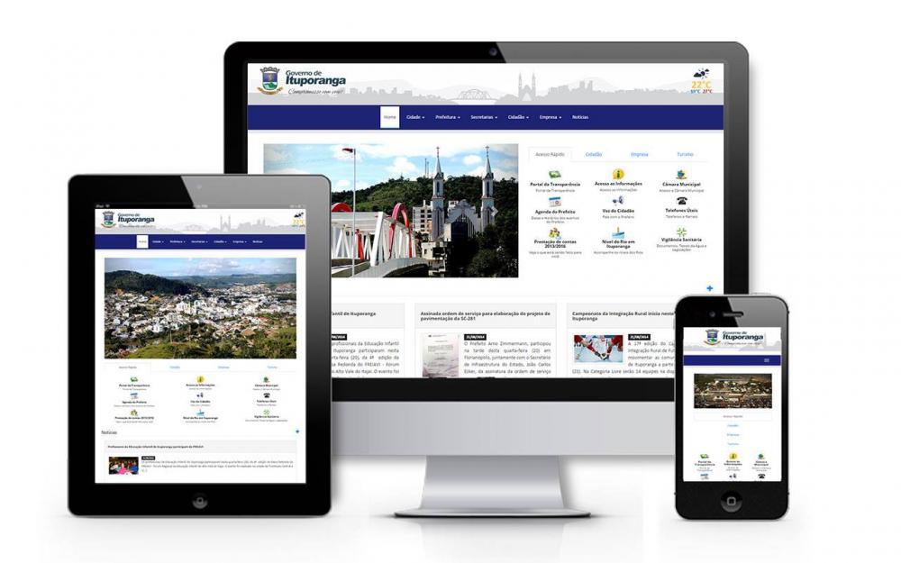 Prefeitura de Ituporanga implanta novo Portal do Município