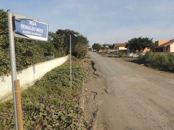Prefeitura de Ituporanga inicia pavimentação da Rua Reinaldo Mees