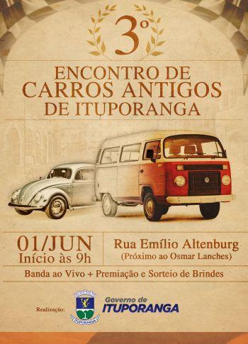 Ituporanga realizará a 3º edição do Encontro de Carros Antigos
