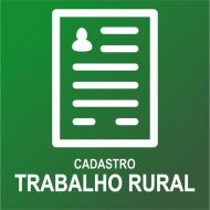 CADASTRO TRABALHO RURAL
