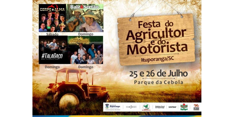 Tudo pronto para a Festa do Agricultor e Motorista em Ituporanga