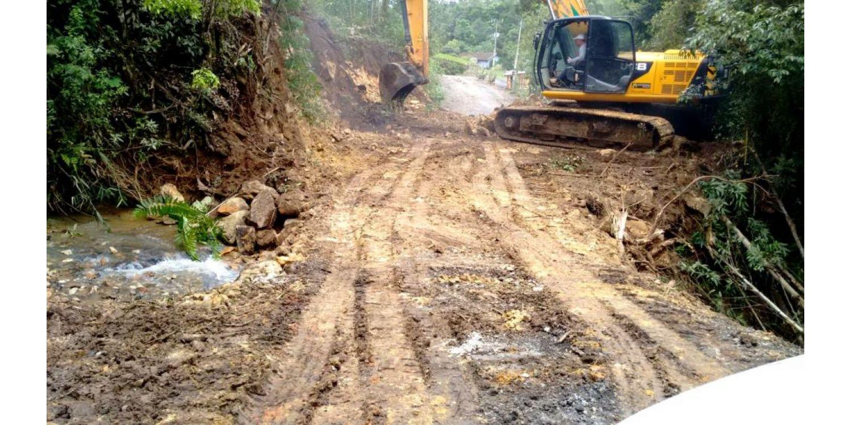 Prefeitura intensifica os trabalhos para recuperar os estragos causados pela chuva