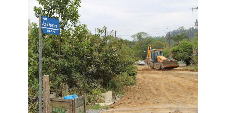 Inicia pavimentação da rua José Koerich no Salto Grande em Ituporanga
