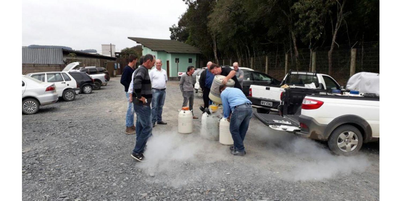 Entrega de nitrogênio aconteceu nesta quinta-feira em Ituporanga