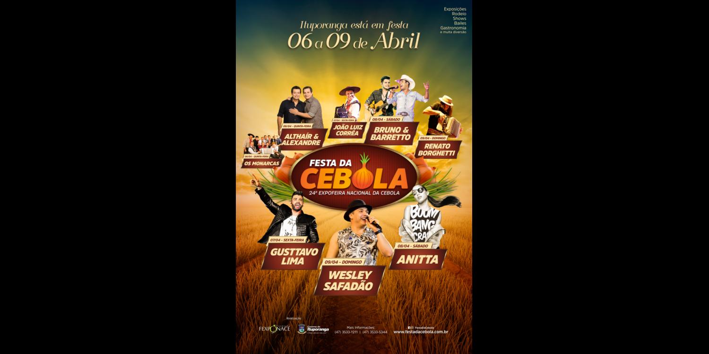 CCO divulga programação oficial da Festa da Cebola de 2017