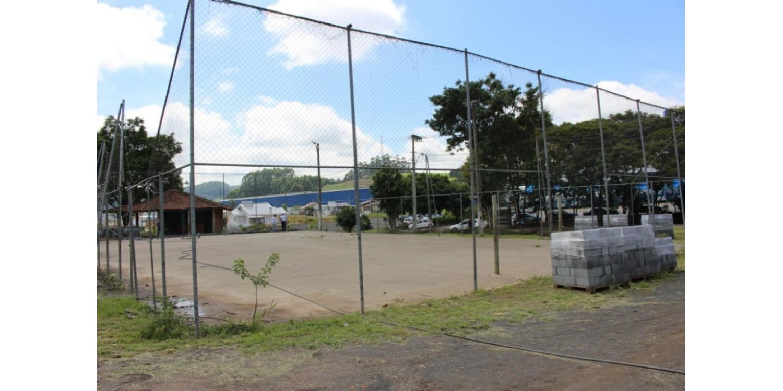 Quadra esportiva no bairro Nossa Senhora de Fátima