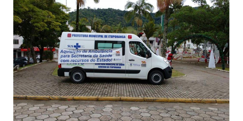 Ituporanga recebe ambulância do Governo do Estado
