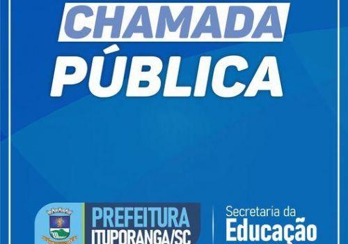 Aberta Chamada Pública para a contratação de professores e serventes em Ituporanga