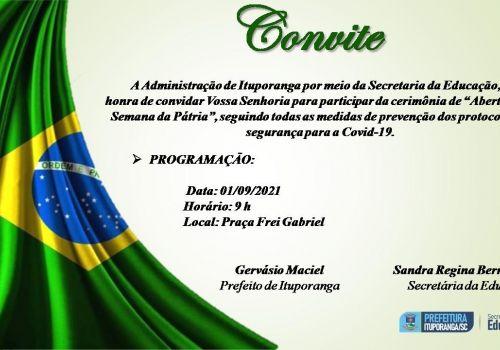 Abertura da Semana da Pátria em Ituporanga vai contar com apresentações na Praça da Matriz