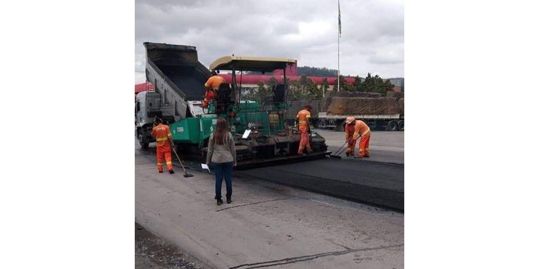 Administração conclui obra de recapeamento na Avenida Brasil, próximo ao Portal de Ituporanga