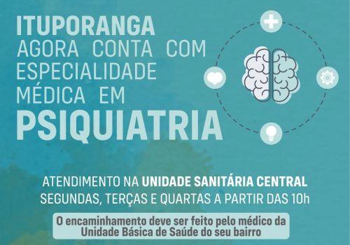 Administração de Ituporanga amplia quadro de especialidades e disponibiliza médico psiquiatra