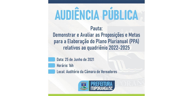 Administração de Ituporanga realiza audiência pública para elaboração do Plano Plurianual