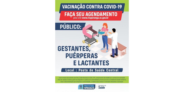 Gestantes e puérperas sem comorbidades e lactantes passam a ter acesso a vacina contra a COVID