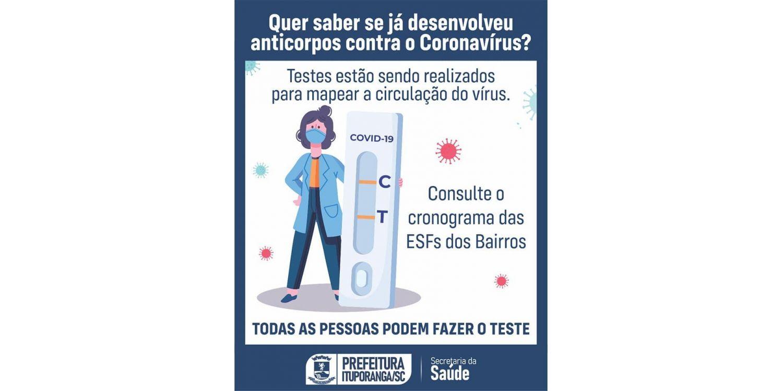 Administração de Ituporanga segue com a  testagem em massa para mapear a circulação do coronavírus