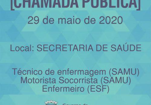 Administração Municipal anuncia Chamada Pública para contratar profissionais de saúde