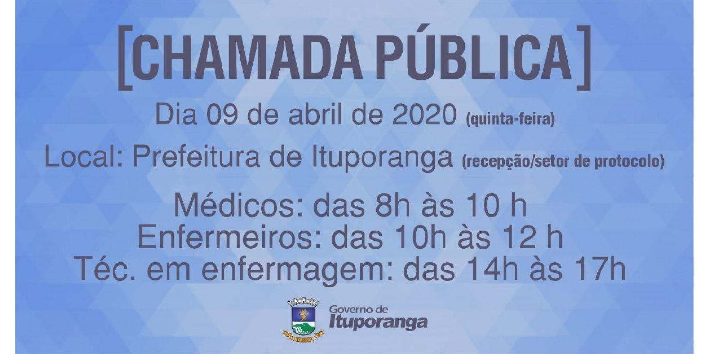 Administração Municipal de Ituporanga faz chamada pública para contratar profissionais de saúde