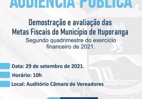 Administração realiza Audiência Pública para apresentação das metas fiscais do município