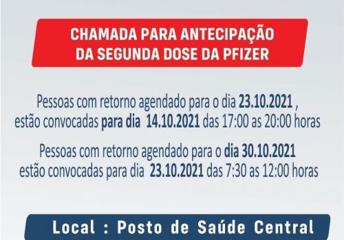 Aplicação da segunda dose da Pfizer será antecipada em Ituporanga