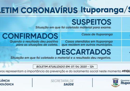 Boletim Coronavírus registra primeiro caso confirmado - atualização urgente