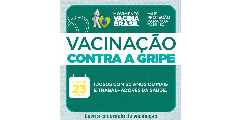 Campanha de vacinação contra influenza inicia nessa segunda-feira