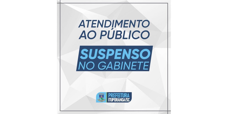 Com aumento no número de casos COVID, Administração de Ituporanga suspende atendimento ao público