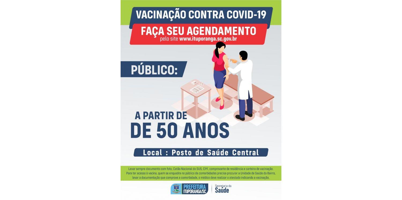 Com poucas doses disponíveis Ituporanga abre agenda única com 250 doses para vacinação no sábado