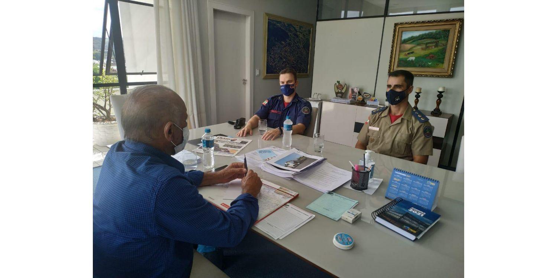 Comandante do 15º Batalhão dos Bombeiros faz anuncio de aumento de efetivo para Ituporanga