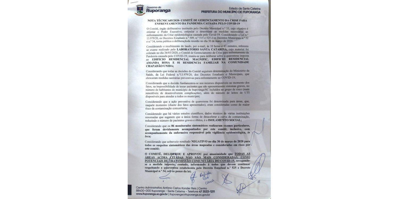 Comitê de enfrentamento ao Covid-19 emite nova Nota Técnica