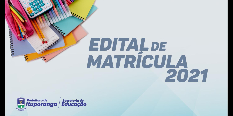 COMUNICADO EDITAL DE MATRÍCULA
