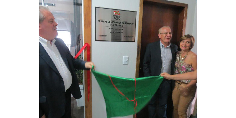 Sistema de videomonitoramento de Ituporanga é inaugurado