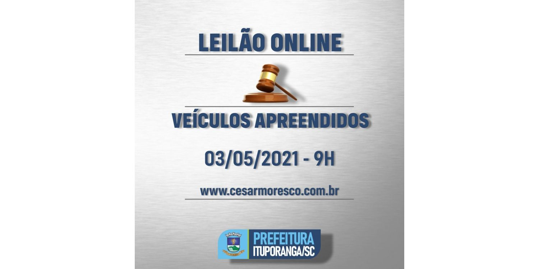 Detran/SC realiza leilão online de veículos apreendidos
