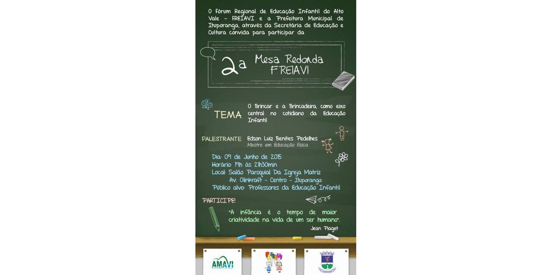 Fórum Regional de Educação Infantil do Alto Vale do Itajaí será realizado em Ituporanga