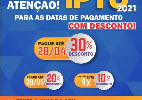 Encerra nesta quarta (28) pagamento com 30% de desconto do IPTU em Ituporanga