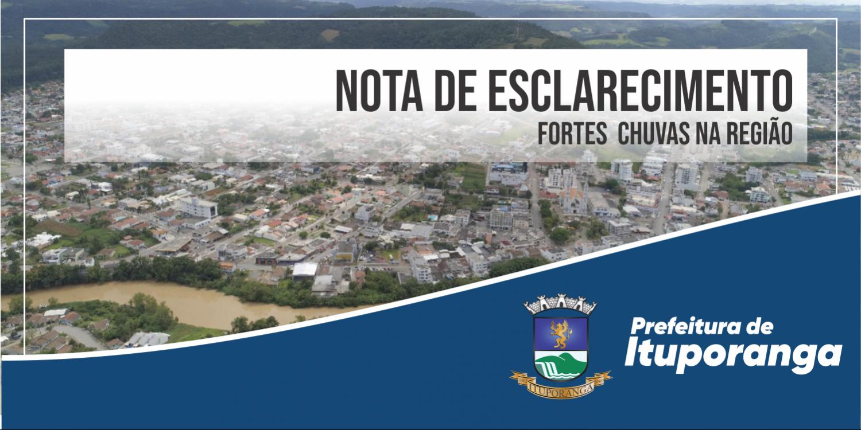 Fortes Chuvas no Município de Ituporanga