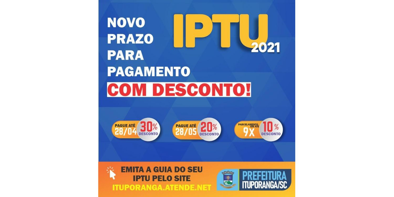 Guias com desconto prorrogado do IPTU em Ituporanga estão a disposição dos contribuintes