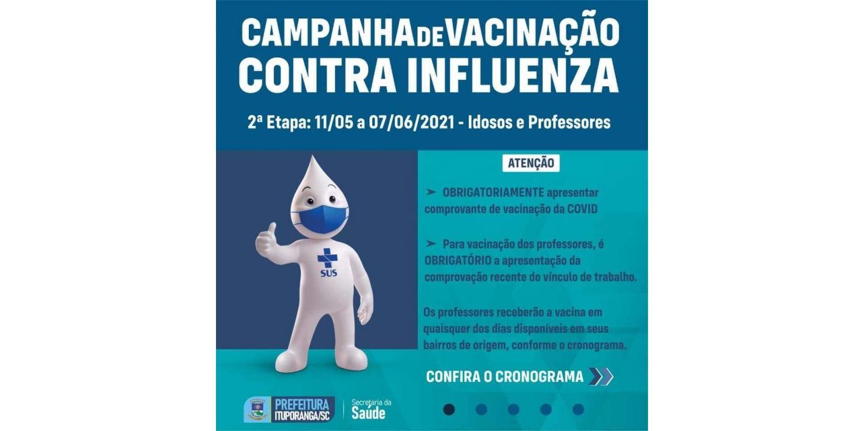 Idosos  entre 70 e 79  serão vacinados contra a gripe nesta semana em Ituporanga