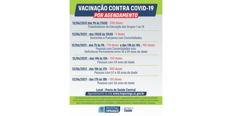 Ituporanga espera aplicar mais de mil doses da vacina contra a COVID neste sábado