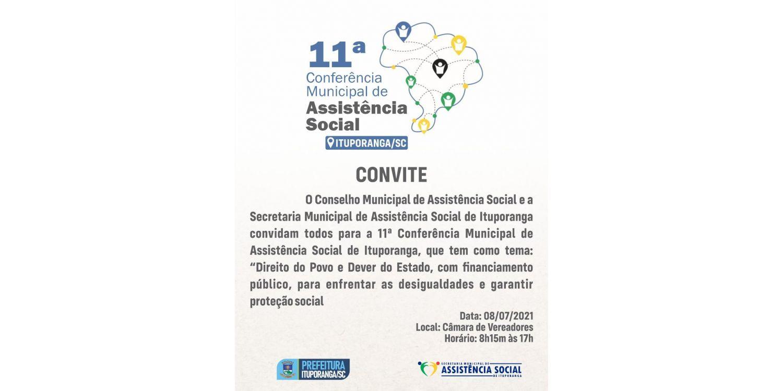 Ituporanga realiza nesta semana a 11ª Conferência Municipal de Assistência Social