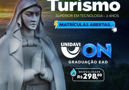 Matrículas abertas para o curso de Turismo na UNIDAVI