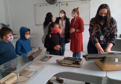 Museu Itinerante é sucesso nas escolas de Ituporanga