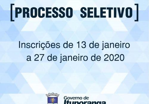 Administração Municipal de Ituporanga lança Processo Seletivo 2020