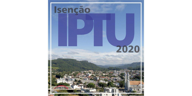 ISENÇÃO DO IPTU 2020