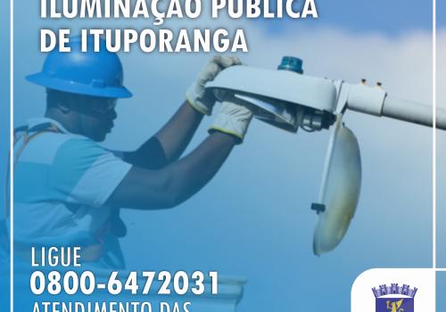 Ituporanga agora conta com canal para solicitação de melhorias na iluminação pública