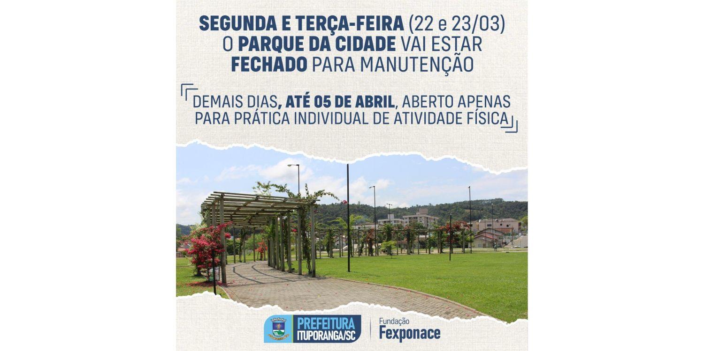 Novo decreto permite apenas atividades físicas individuais no Parque da Cidade em Ituporanga