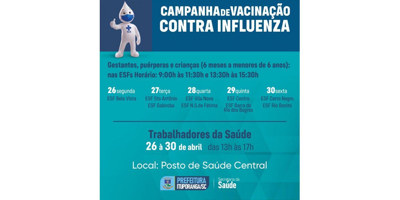 Profissionais da Saúde começam a ser imunizados contra a influenza em Ituporanga