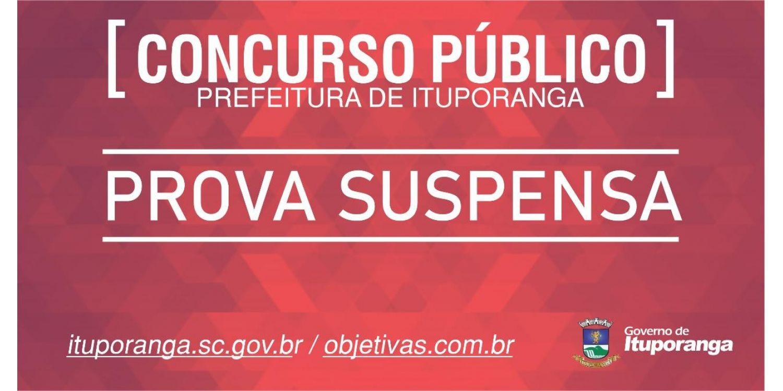 Prova do Concurso Público da Prefeitura é suspensa em razão da situação epidemiológica do Município
